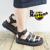 Dr.MartensドクターマーチンBLAIRECHUNKYブレアチャンキー24191001サンダル靴シューズレディースストラップサンダルレザーサンダル厚底サンダル厚底ぺたんこ黒ブラックレザーきれいめ上品カジュアルストラップ歩きやすい