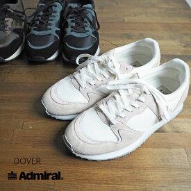 Admiral アドミラル DOVER ドーバー スニーカー SJAD1614 レディース シューズ 靴 レトロ 秋冬 白 黒 カモ 歩きやすい おしゃれ かわいい 大人 大きいサイズ シンプル カジュアル モノトーン DOVER ブラック ホワイト 正規品