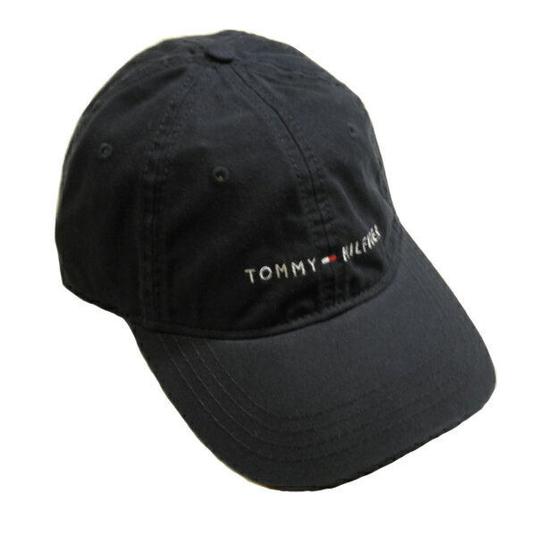 【再入荷しました!】TOMMY HILFIGERトミーヒルフィガーキャップベースボールキャップ帽子トリコロールロゴバックベルトネイビーメンズ[レディース兼用]【送料無料】【送料込み】