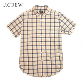 J CREWボタンダウンチェックシャツジェイクルーJ.CREW半袖ポケットありピンク系メンズSサイズ02P29Jul16【送料無料】【送料込み】