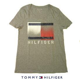 トミーヒルフィガー LadysTシャツTOMMY HILFIGERトリコロールトリコロールビッグフラッグロゴプリントグレーレディース Sサイズ Mサイズ Lサイズあり【送料無料】【送料込み】