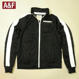 アバクロ ボーイズトラックジャケットジャージー ジャンパー ブルゾンアバクロンビームースロゴ ホワイトワンラインブラック×ホワイトキッズ ボーイズ15/16[XL相当] メンズXSサイズ相当 レディース兼用 02P15Feb19