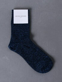 [Rakuten Fashion]UWCSラメソックス2 UNITED ARROWS ユナイテッドアローズ ファッショングッズ ソックス/靴下 ブルー ブラック グレー
