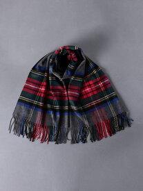 [Rakuten Fashion]<JOHNSTONS(ジョンストンズ)>カシミヤストール UNITED ARROWS ユナイテッドアローズ ファッショングッズ ストール グレー ブラック【送料無料】