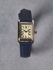 [Rakuten Fashion]UBBTスクエアレザーベルト時計 UNITED ARROWS ユナイテッドアローズ ファッショングッズ 腕時計 イエロー ゴールド シルバー ピンク【先行予約】*【送料無料】