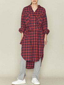 [Rakuten Fashion]【SALE/40%OFF】ASTRAET(アストラット)2ポケットチェックシャツワンピース ASTRAET ユナイテッドアローズ ワンピース シャツワンピース レッド【RBA_E】【送料無料】
