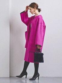 [Rakuten Fashion]UBCBリバーバイカラーコート† UNITED ARROWS ユナイテッドアローズ コート/ジャケット ハーフコート ピンク イエロー【送料無料】