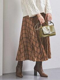 [Rakuten Fashion]UWSCチェックアコーディオンプリーツスカート UNITED ARROWS ユナイテッドアローズ スカート プリーツスカート/ギャザースカート ベージュ グレー【送料無料】