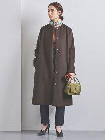 [Rakuten Fashion]UBCSノーカラーベルラインコート† UNITED ARROWS ユナイテッドアローズ コート/ジャケット ロングコート ブラウン ブラック ホワイト イエロー ネイビー【送料無料】