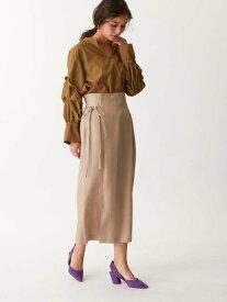 [Rakuten Fashion]〔ハンドウォッシャブル〕SMFHWRY/Pサテンラップライクスカート EMMEL REFINES ユナイテッドアローズ アウトレット スカート ロングスカート ベージュ グレー【送料無料】