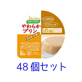 ハウス やさしくラクケア【区分3 舌でつぶせる】やわらかプリン カスタード味 63g 48個セット
