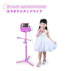 スタンドマイク おもちゃ MP3・スマートフォンと接続可能 カラオケ オリジナルカラビナ メーカー保証書 豪華3点セット! sia044