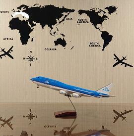送料無料 模型飛行機 KLMオランダ航空 LED点灯 1/150 スタンド付き 飛行機 模型 LED 航空機 エアライン USBケーブル USB 航空機 飛行機模型 照明 電気スタンド バッテリー内蔵 オランダ KLM