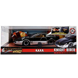 ナイトライダー ジェイダトイズ メタルズ ハリウッド・ライズ 1/24 スケール ダイキャストカー K.A.R.R. (カール) with スキャナーライト ライトアップ / KNIGHT RIDER 2019 JADA TOYS METALS HOLLYWOOD RIDES KARR 1:24 Scale DIE CAST LED LIGHT-UP ミニカー [並行輸入品]