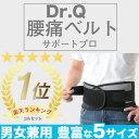 【信頼の楽天ランキング1位】◆Dr.Q 腰痛ベルト◆腰痛でお悩みの方に Wのベルトでしっかり固定 腰痛対策 腰痛予防 腰…