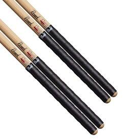 Pearl パール TG-2#B ブラック 薄型タイプ ドラムスティック用 グリップテープ 4枚セット2ペア分 タイトグリップ