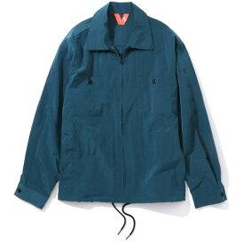 【FLATLUX(フラットラックス)】ISLAND SHIRT JACKET(SLATE)ナイロンジャケット STONE ISLAND リップストップ ナイロン シャツジャケット ビッグサイズ 大きいサイズ