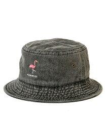 【DL HEADWEAR】(DL ヘッドウェア)NEW FLAMMA BUCKET HAT (BLACK DENIM)