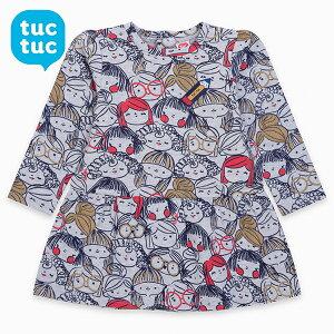 tuctuc ベビー キッズ服 子供服 ワンピース トップス 長袖 可愛い かわいい おしゃれ 女の子 ガーリー カジュアル グレー インポート 海外 スペイン 2〜5歳まで4サイズ