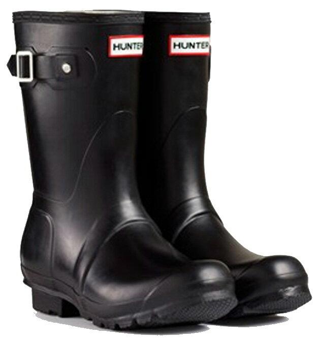 <特別価格!>HUNTER【ハンター】MENS ORIGINAL SHORT BLACKオリジナルショート・ブラックレインブーツ ラバーブーツ 長靴