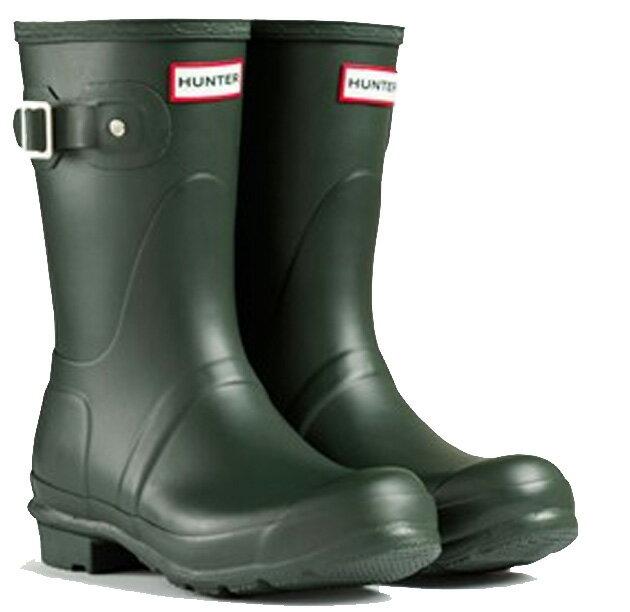 <特別価格!>HUNTER【ハンター】MENS ORIGINAL SHORT DARK OLIVEオリジナルショート・ダークオリーブレインブーツ ラバーブーツ 長靴