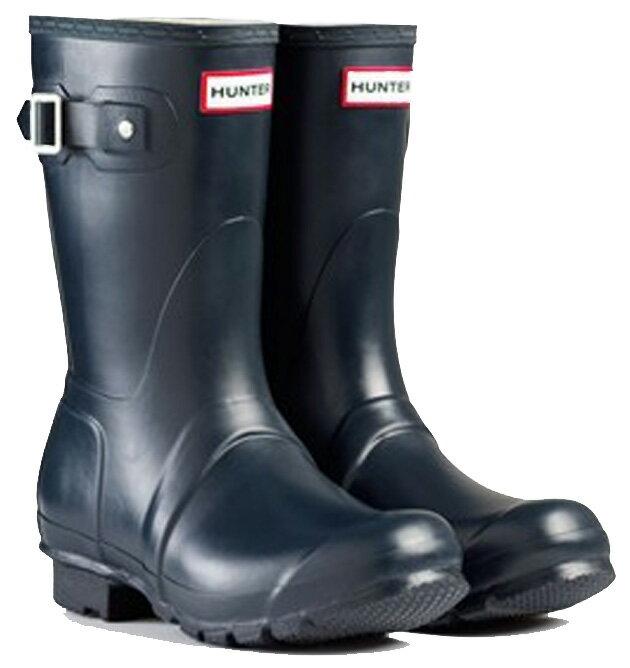 <特別価格!>HUNTER【ハンター】MENS ORIGINAL SHORT NAVYオリジナルショート・ネイビーレインブーツ ラバーブーツ 長靴