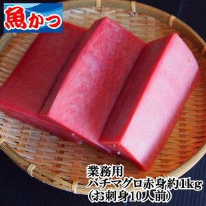 <冷凍>業務用刺身用マグロ赤身10人前、約1kgUP送料無料 マグロ バチマグロ