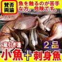 小魚宝箱魚えーっセット パート2小魚とお刺身用のお魚2品