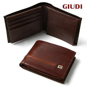 錢包人對開錢包皮革意大利製造GIUDI朱迪