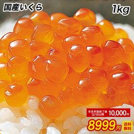 国産 三陸産 秋鮭卵を使用 いくら イクラ 本いくら いくら醤油漬け 業務用500g×2=1kg入り 期間限定 最安値に挑戦 国産 送料無料 安価な鱒子ではありません。 【注意】北海道、沖縄は追加送料を997円加算し、ご請求いたします。 SS おかず セット