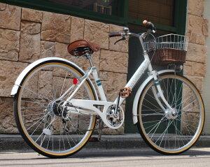 Lupinus / ルピナス 安い 人気 ママチャリ 266VA 100%完成車 26インチ 自転車 軽快車 子供 女性でも乗りやすい 乗り降りらくらく 子乗せ おすすめ シマノ6段変速 通勤 通学 快足 【配送先関東・大