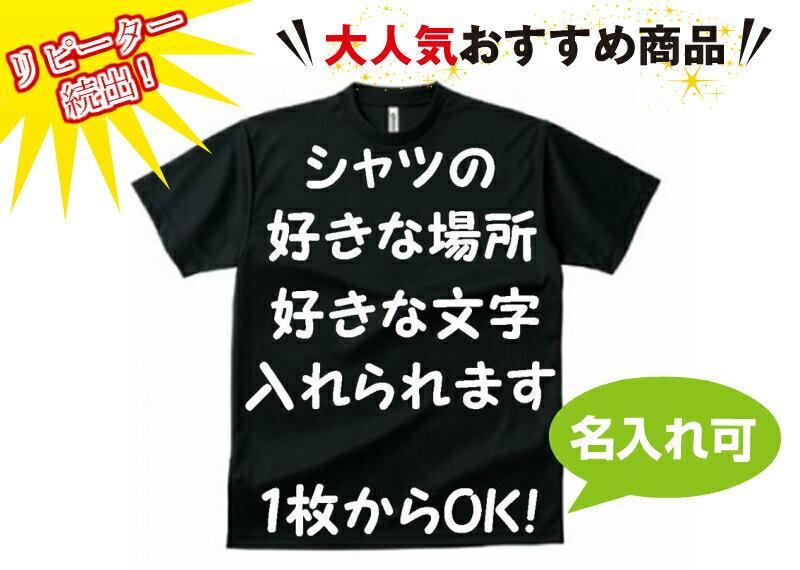 オーダーメイド ドライTシャツ オリジナル 名入れ Tシャツ チームシャツ 【名入れ可能】