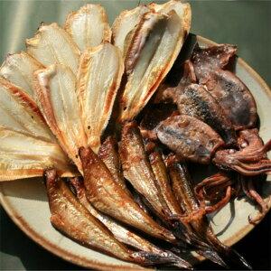 日本海干物セット 【ハタハタ醤油干10-16尾 柳がれい一夜干8-10尾丸干いか150g詰合せ】