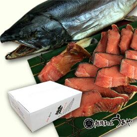 塩引き鮭一尾 【切り身にしてお届け】 生時4.7kg