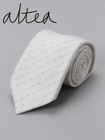 【国内正規品】 ALTEA アルテア ドット柄 ネクタイ ホワイト AL181UA1815422 イタリア製 シルク
