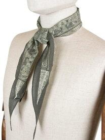【国内正規品】 Altea アルテア ペイズリー柄 ネッカチーフ コットン×シルク カーキ AL191UA1950005 イタリア製 スカーフ