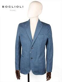 【国内正規品】BOGLIOLI ボリオリ 2B シングルテーラードジャケット ブルー 220-52715 シアサッカー イタリア製