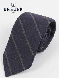 【国内正規品】19-20AW BREUER ブリューワー ウール混 シルクネクタイ ストライプ 277-88936-01 グレー