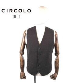 【国内正規品】CIRCOLO1901 チルコロ1901 5Bジレ ベスト プリント ジャージー 9204G233201 NERO ブラック