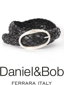 【国内正規品】 Daniel&Bob DBB001 99NERO メッシュ レザーベルト ダニエルアンドボブ CUOIO クオイオ 本革