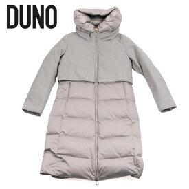 DUNO デュノ ロング丈 ダウンコート 異素材コンビ ジップアップ 0259-CEC グレー 国内正規品 レディース
