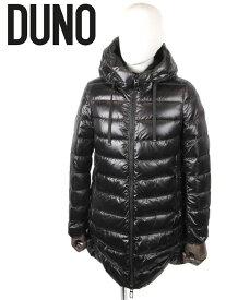 【国内正規品】DUNO デュノ LADIES レディース ライトダウンコート セミロング 軽量 シンプル 92597CAP BLACK ブラック