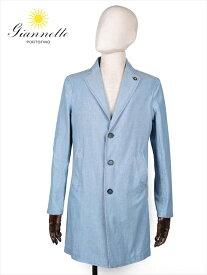 【国内正規品】Giannetto ジャンネット コットン シャンブレー シャツコート C01 ブルー 8G354VNT