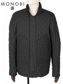 【国内正規品】 MONOBI モノビ リバーシブル オーバーロードジャケット シアサッカー波型キルティング 中綿入り MMB19A4114 ブラック ライディングジャケット