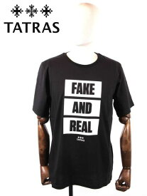 【国内正規品】 20SS新作 TATRAS タトラス PARATEA FAKE AND T SHIRT MTA20S8087 BLACK ブラック