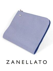 【国内正規品】ZANELLATO ザネラート NENO L BLANDINE クラッチバッグ Lサイズ A4 デニムブルー