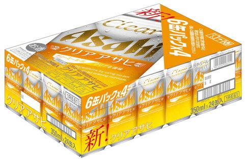【P】アサヒ クリアアサヒ 350ml 6缶×4 (1ケース:24本)