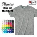 軽量 Tシャツ 半袖 メンズ キッズ モノトーン 00083-BBT PrintStar