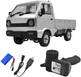 RCカー WPL D12 ラジコンカー 2.4GHzラジコンカー 2WD リヤ駆動 RC車両モデル 1:10 トラック 無線操作 LEDライト付 USB充電器付き 35mの長距離制御 20〜30分長時間駆動 おもちゃ 子供/初心者向け 贈り物 ギフト知育玩具