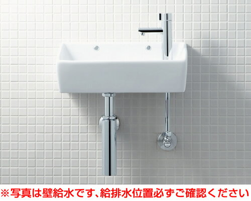 INAX イナックス LIXIL リクシル 【YL-A35HG】手洗器(角形)壁給水・壁排水(ボトルトラップ)アクアセラミック仕様[新品]【RCP】